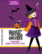Seasonal Dance Coloring Pages CD