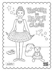 Welcome To Dance Class Printable Coloring Page