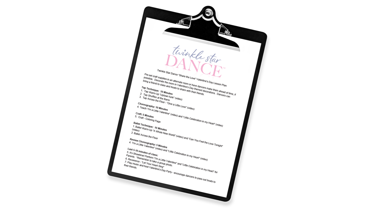 Share The Love Valentine S Day Twinkle Star Dance Videos Lesson Plan Coloring Page