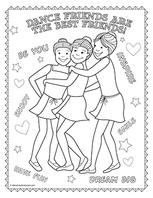 Dance Friends Are The Best Friends Coloring Page