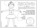 second position coloring page