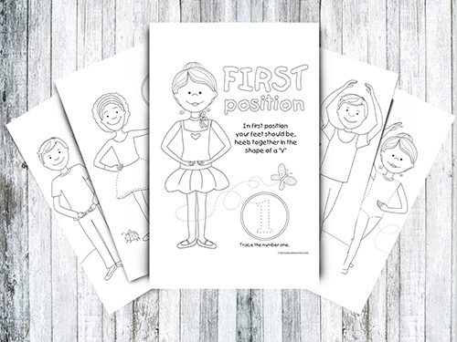 - Ballet Coloring Pages - The Five Positions