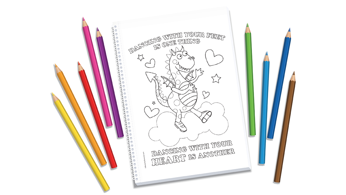 Dancing With Your Heart Coloring Page